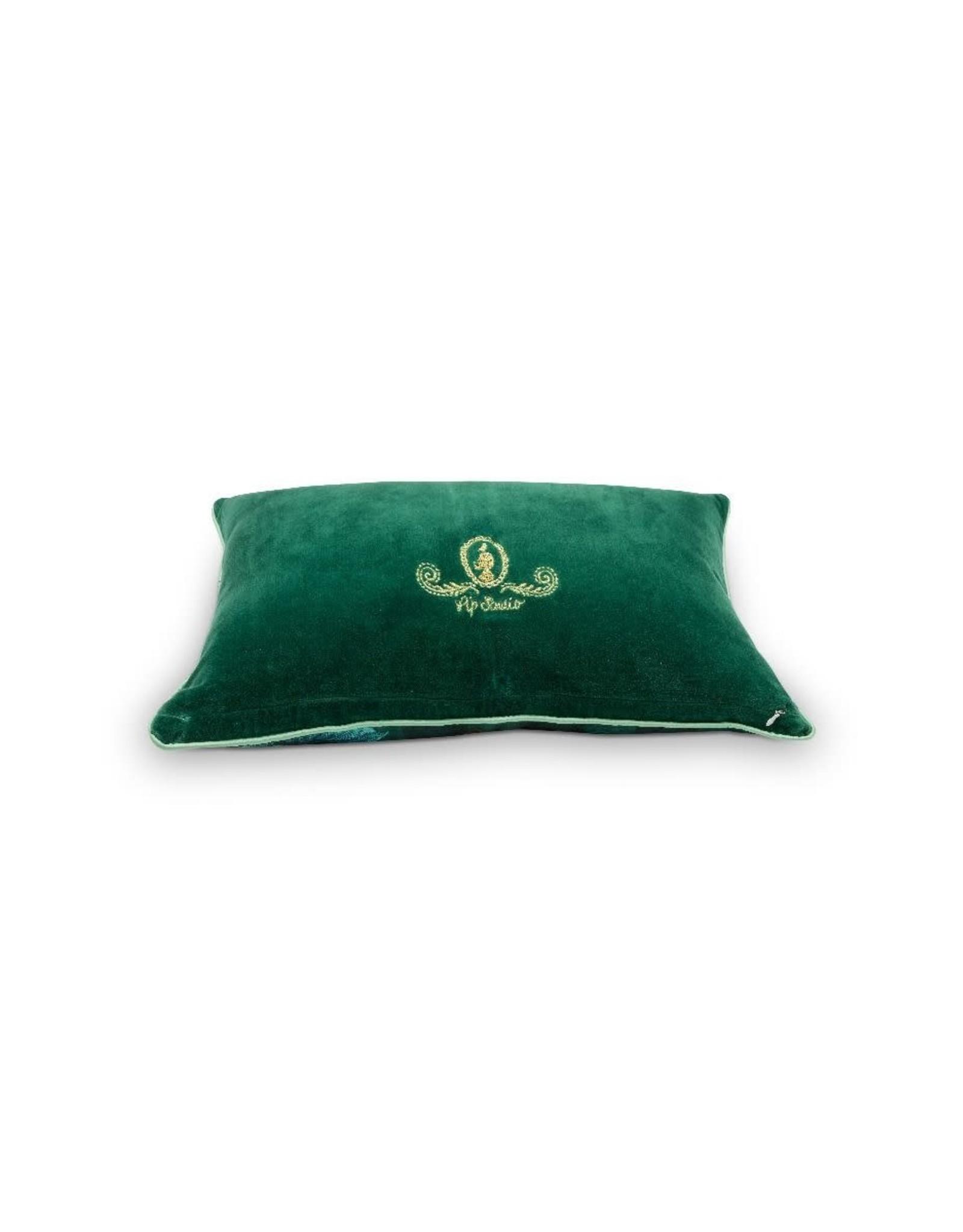 pip-studio Pip-Studio. Cushion Leafy Stitch Green 30x50cm