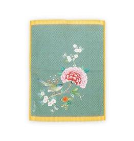 pip-studio Pip-studio. Tea Towel Blushing Birds Blue 50x70cm