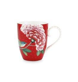 pip-studio Pip Studio. Mug Large Blushing Birds Red 350ml