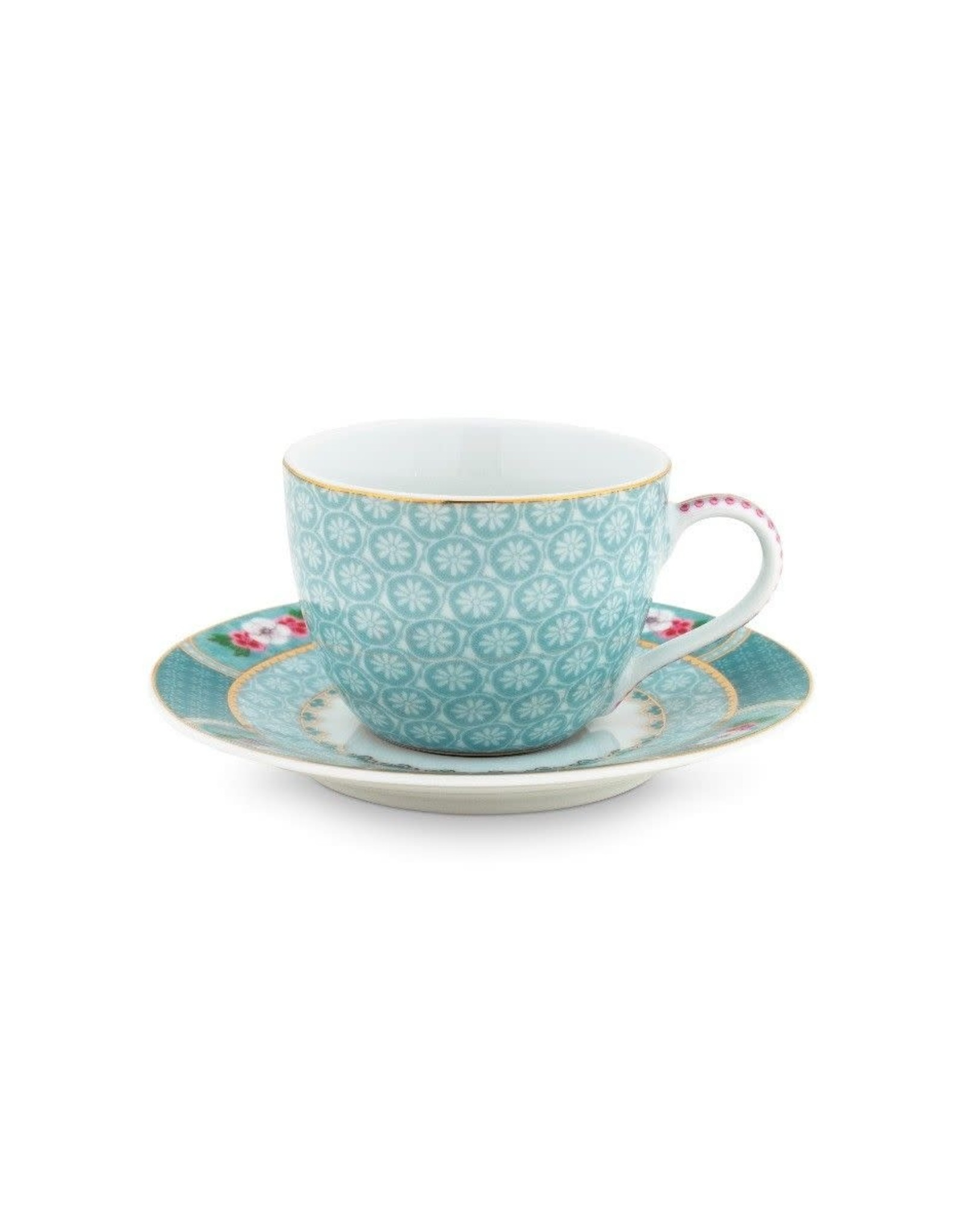 pip-studio Espresso Cup & Saucer Blushing Birds Blue 120ml