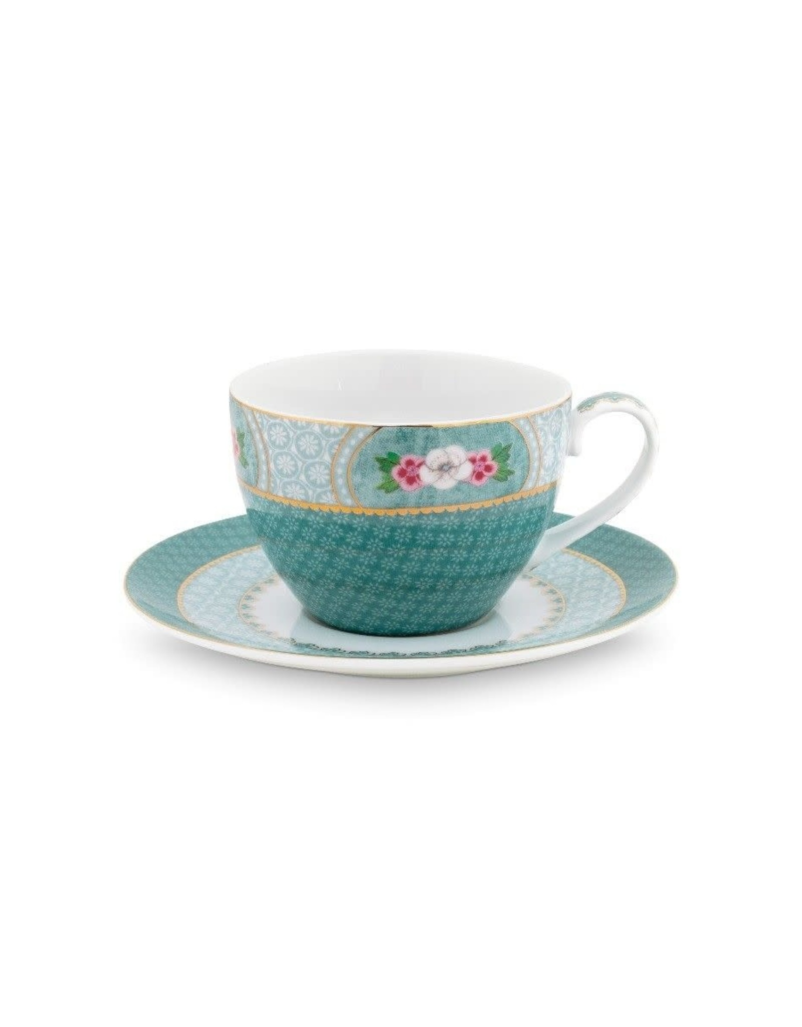 pip-studio Pip Studio. Cup & Saucer Blushing Birds Blue 280ml