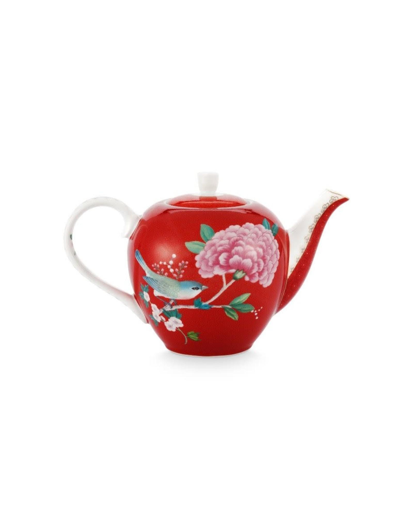 pip-studio Pip Studio. Tea Pot Small Blushing Birds Red 750ml