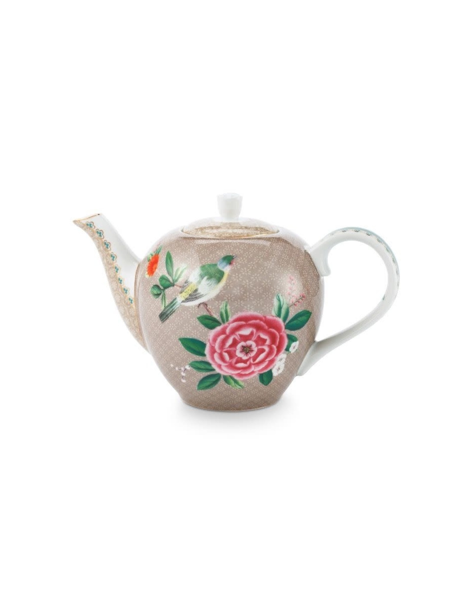 pip-studio Pip Studio. Tea Pot Small Blushing Birds Khaki 750ml