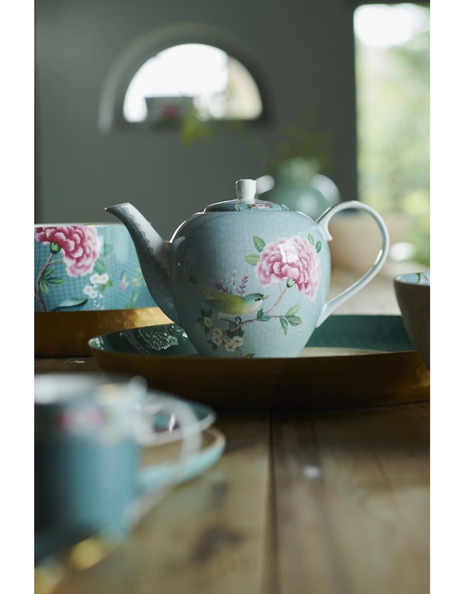 pip-studio Pip Studio. Tea Pot Large Blushing Birds Blue 1.6ltr