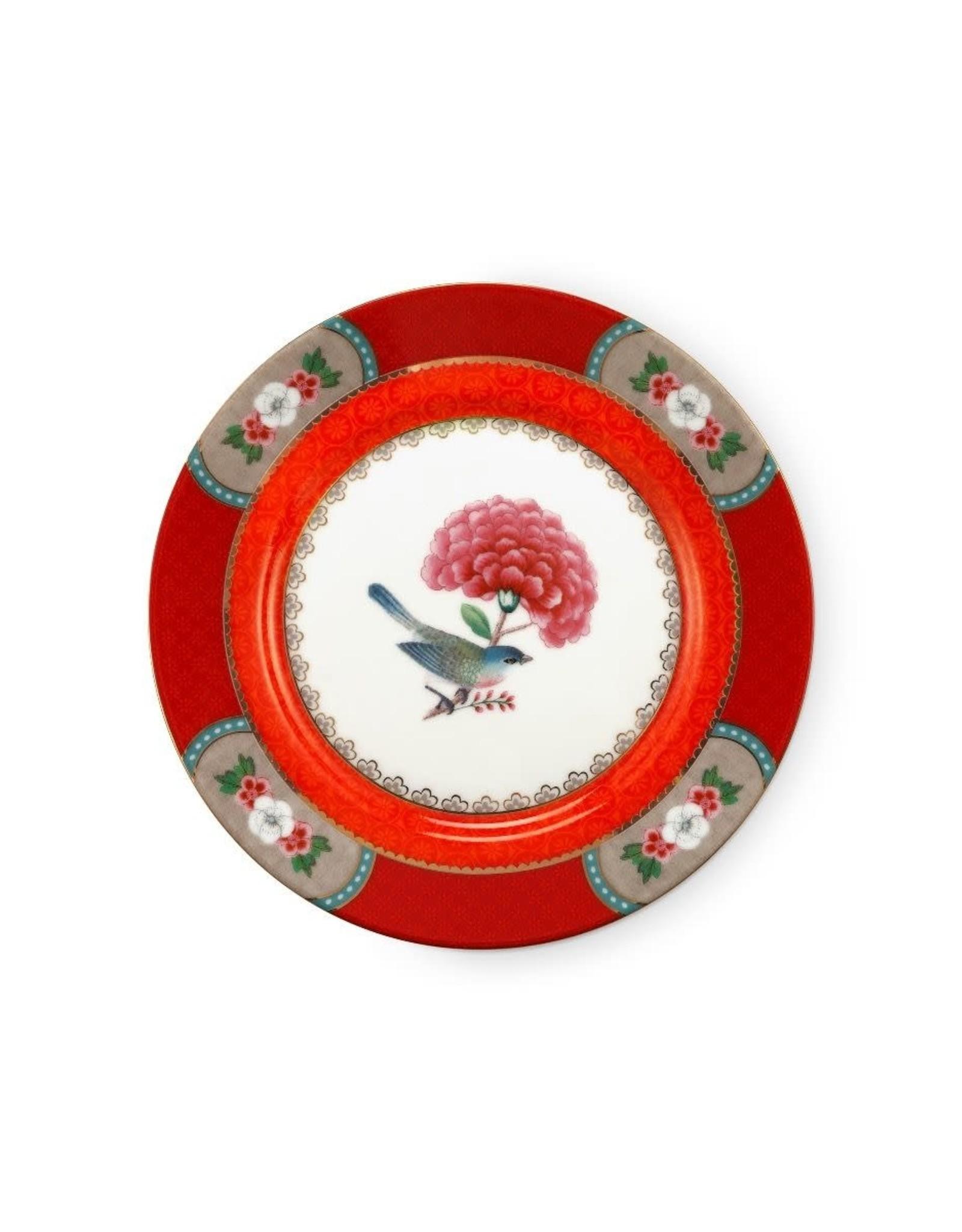 pip-studio Pip Studio. Plate Blushing Birds Red 17cm