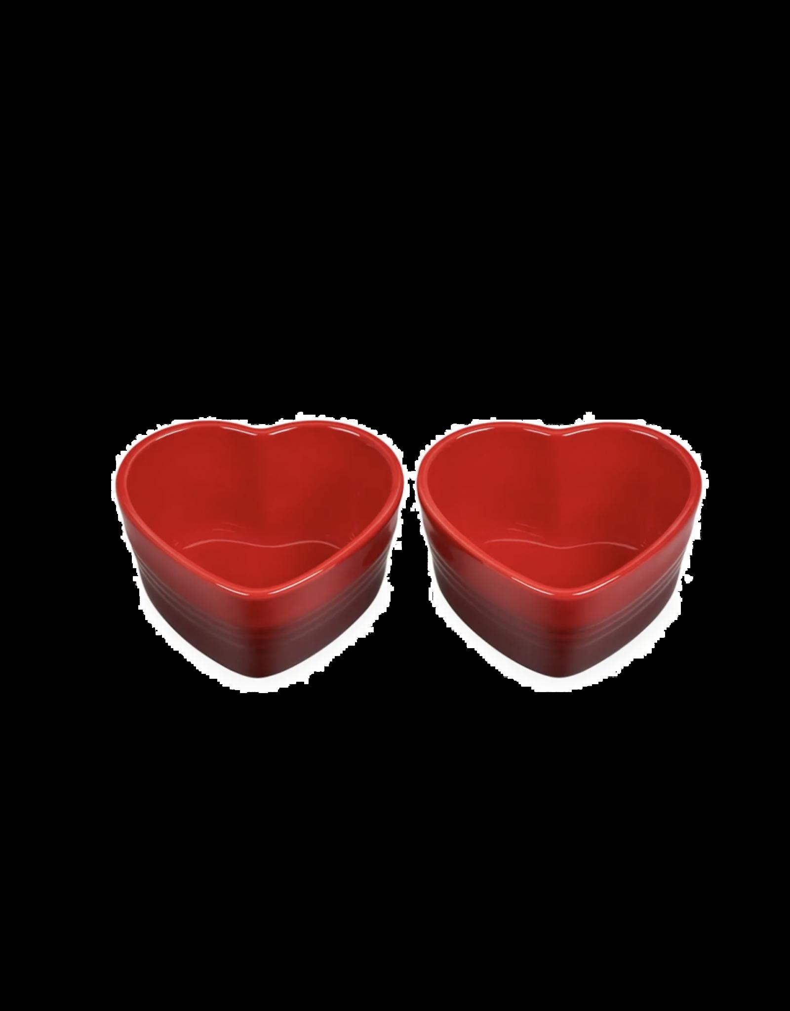 """Le creuset. Set van 2 schaaltjes """"hart"""""""