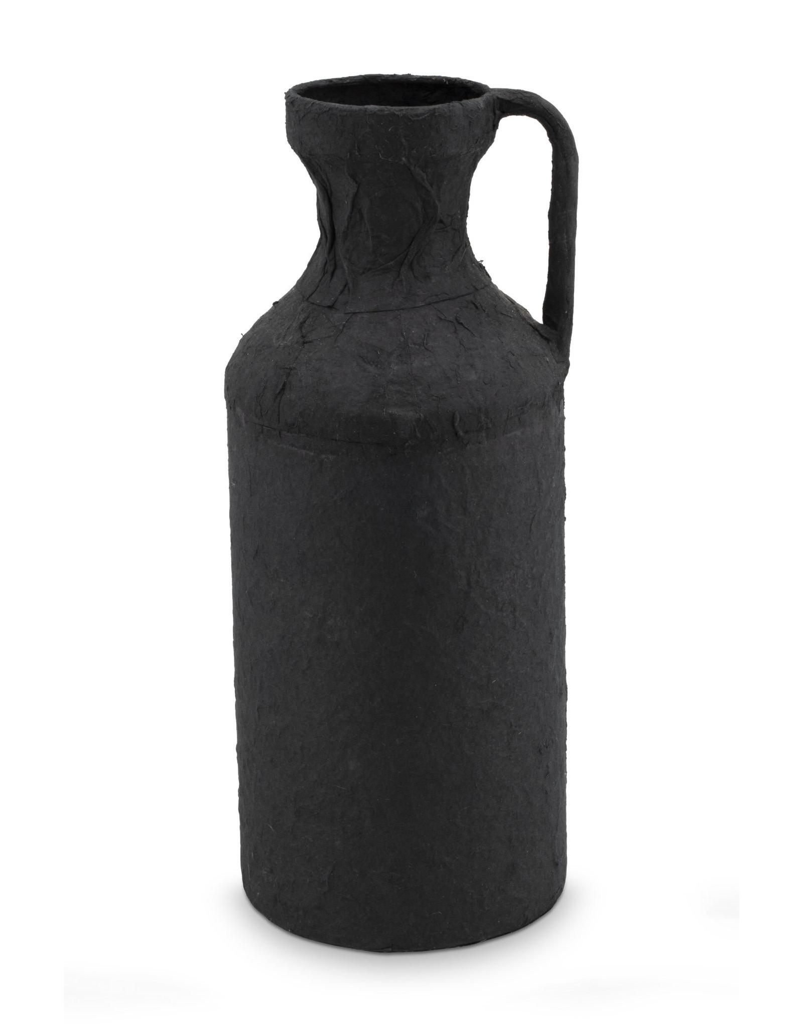 vt-wonen VT-WONEN. Jug Paper Marche Black Ø 16x38cm