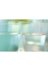 pip-studio Pip-studio. Water Glass Twisted Blue 360ml