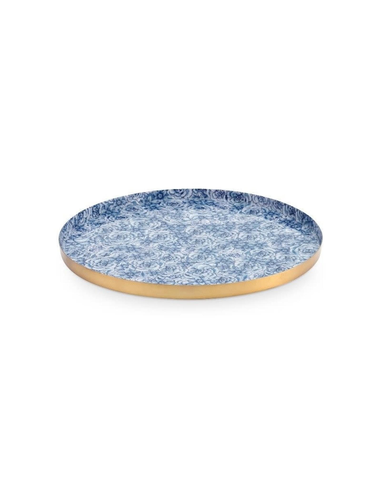 pip-studio Pip studio. Royal metalen bord blauw 29.5 cm