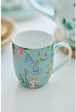pip-studio Pip Studio. Mug Small Jolie Flowers Blue 145ml