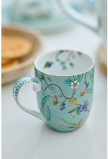 pip-studio Pip Studio. Set/2 Mugs Large Jolie Flowers Blue 350ml