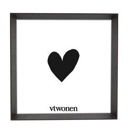 vt-wonen VT-WONEN. Photo Frame Wood Dark Brown 18x18x4cm