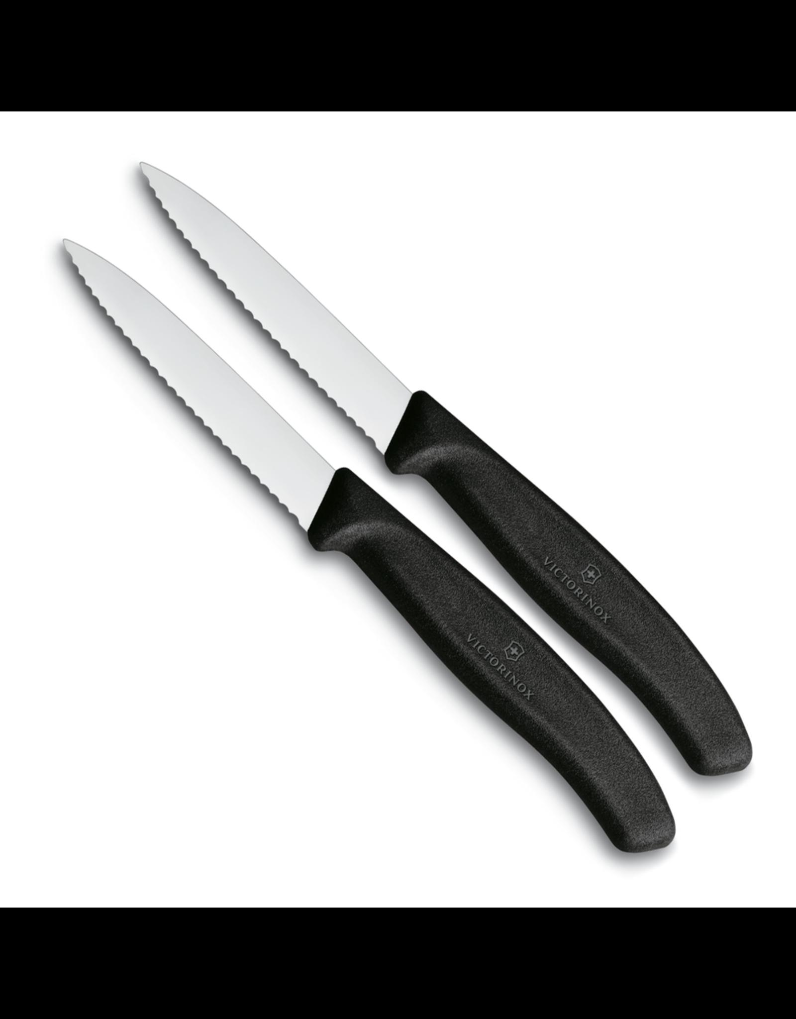 Victorinox VICTORINOX. Schilmesje 8cm gekarteld zwart (set van 2)