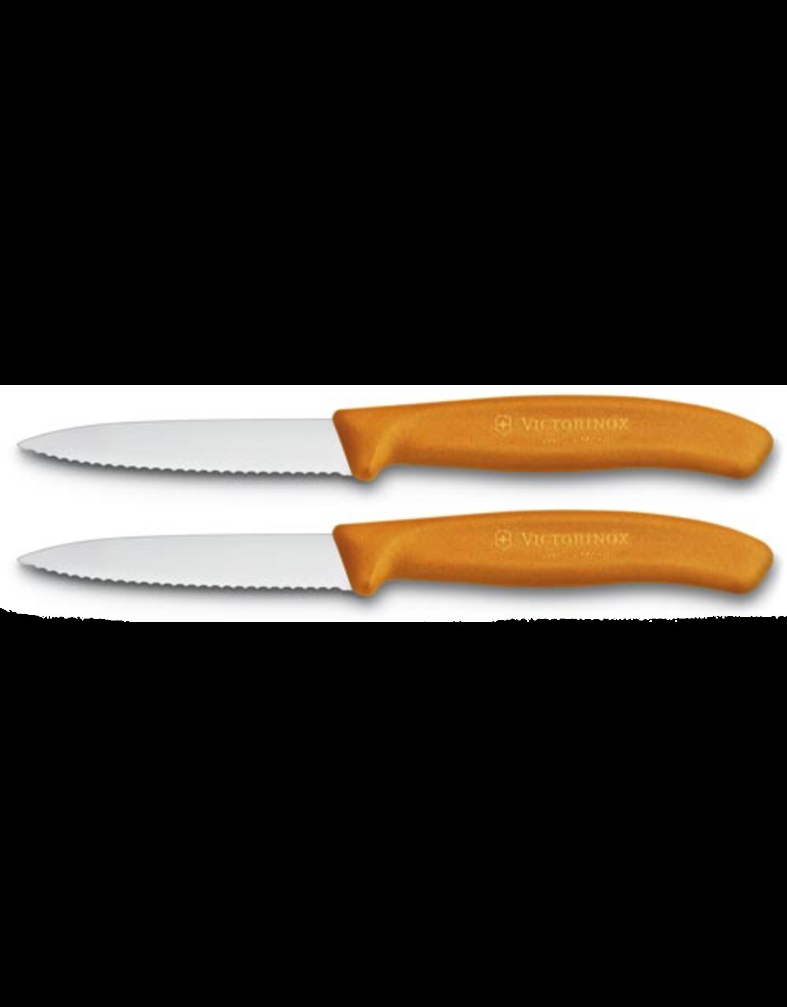 Victorinox VICTORINOX. schilmesje 8cm gekarteld oranje (set van 2)