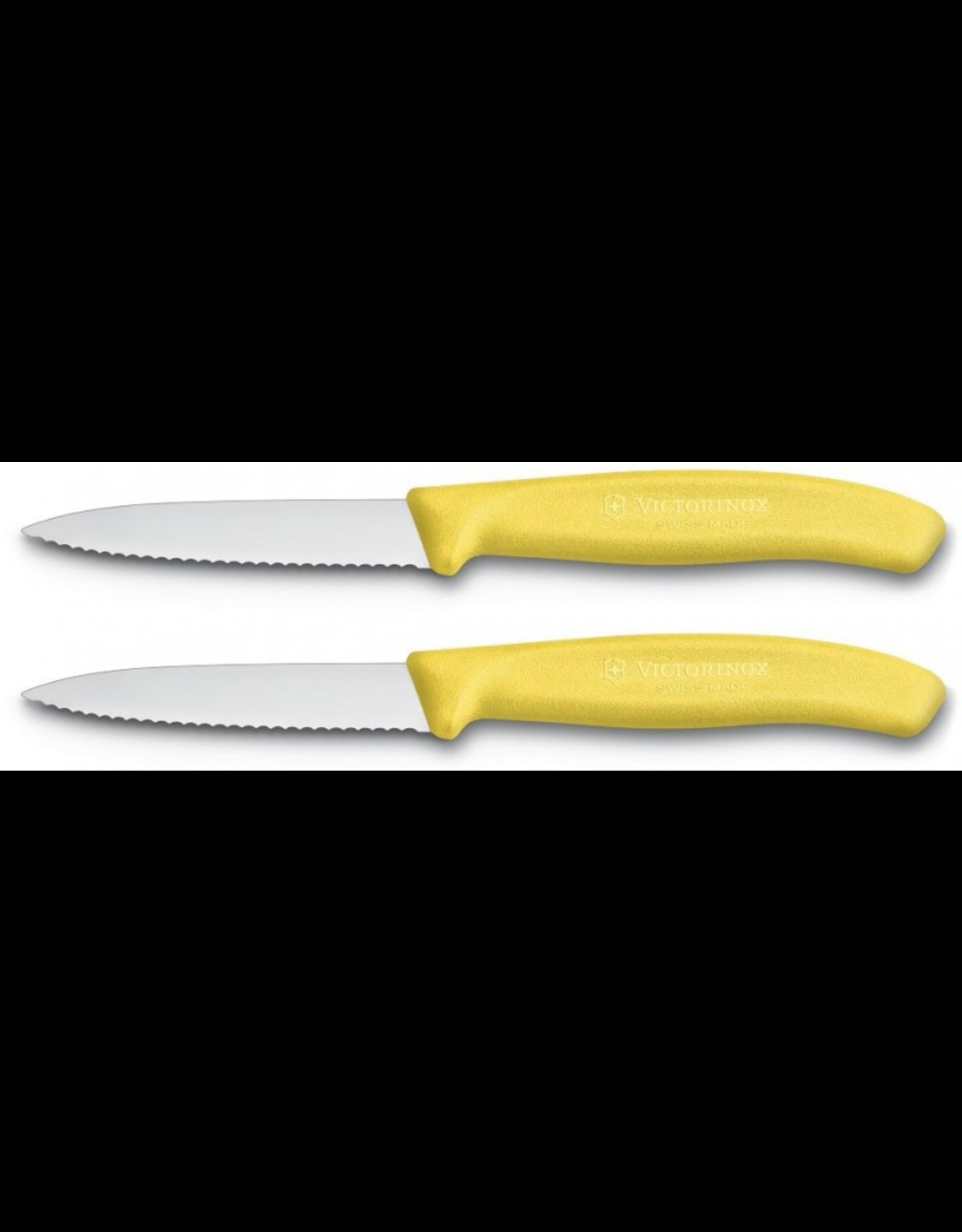 Victorinox VICTORINOX. Schilmesje 8cm gekarteld geel (set van 2)