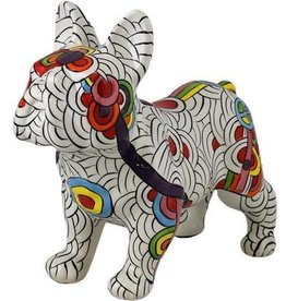 "pomme-pidou POMME-PIDOU. DECORATIVE FRENCH BULLDOG ""JACK"" - CIRCLES OF LIFE - L"