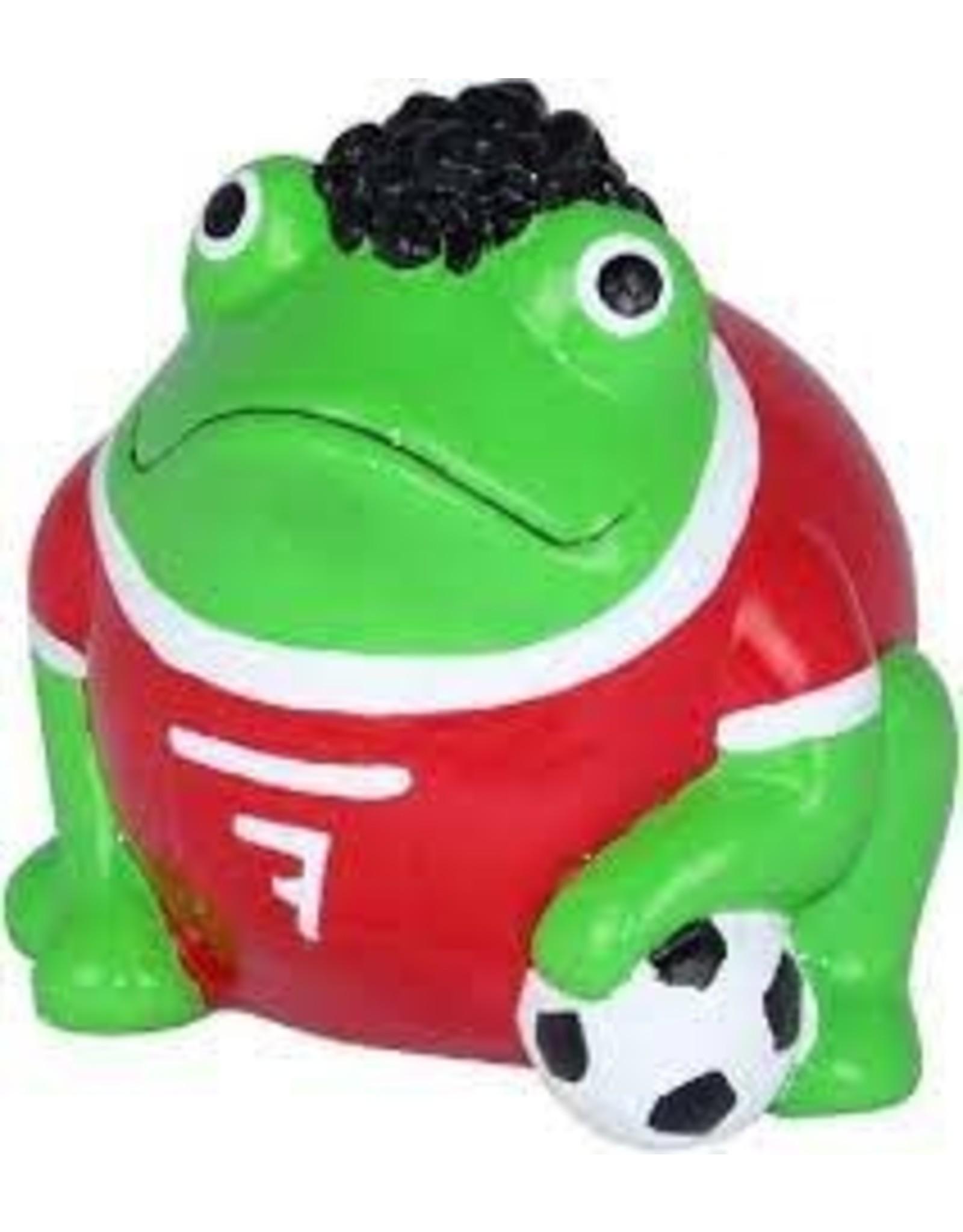 "pomme-pidou Pomme-Pidou. MONEY BOX ""FOOTBALL FREDDY"" - FROGMANIA - S"