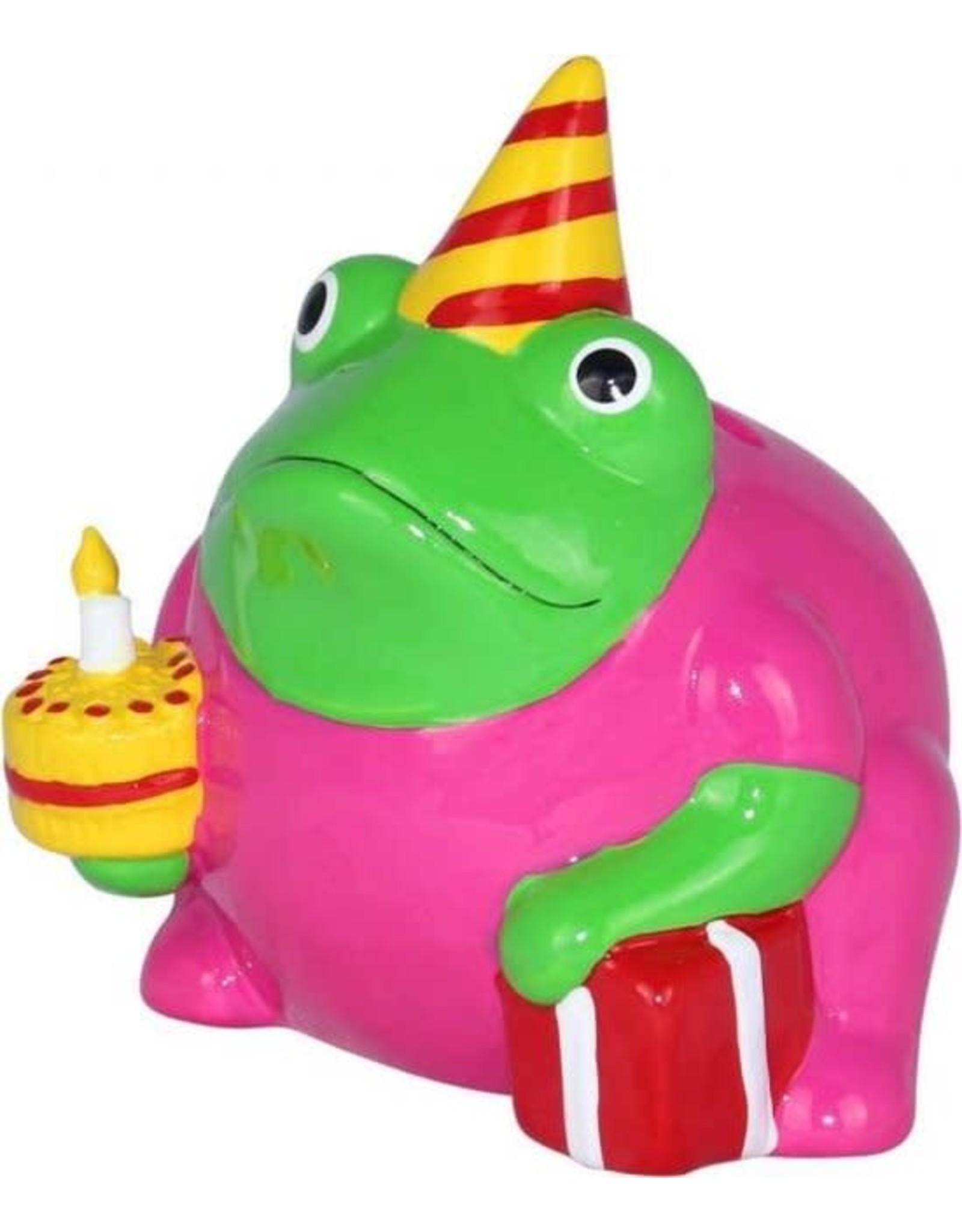 "pomme-pidou Pomme-Pidou. MONEY BOX ""BIRTHDAY FREDDY"" - FROGMANIA - S"