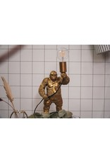 House vitamin HV STAANDE GORILLA LAMP GOUD
