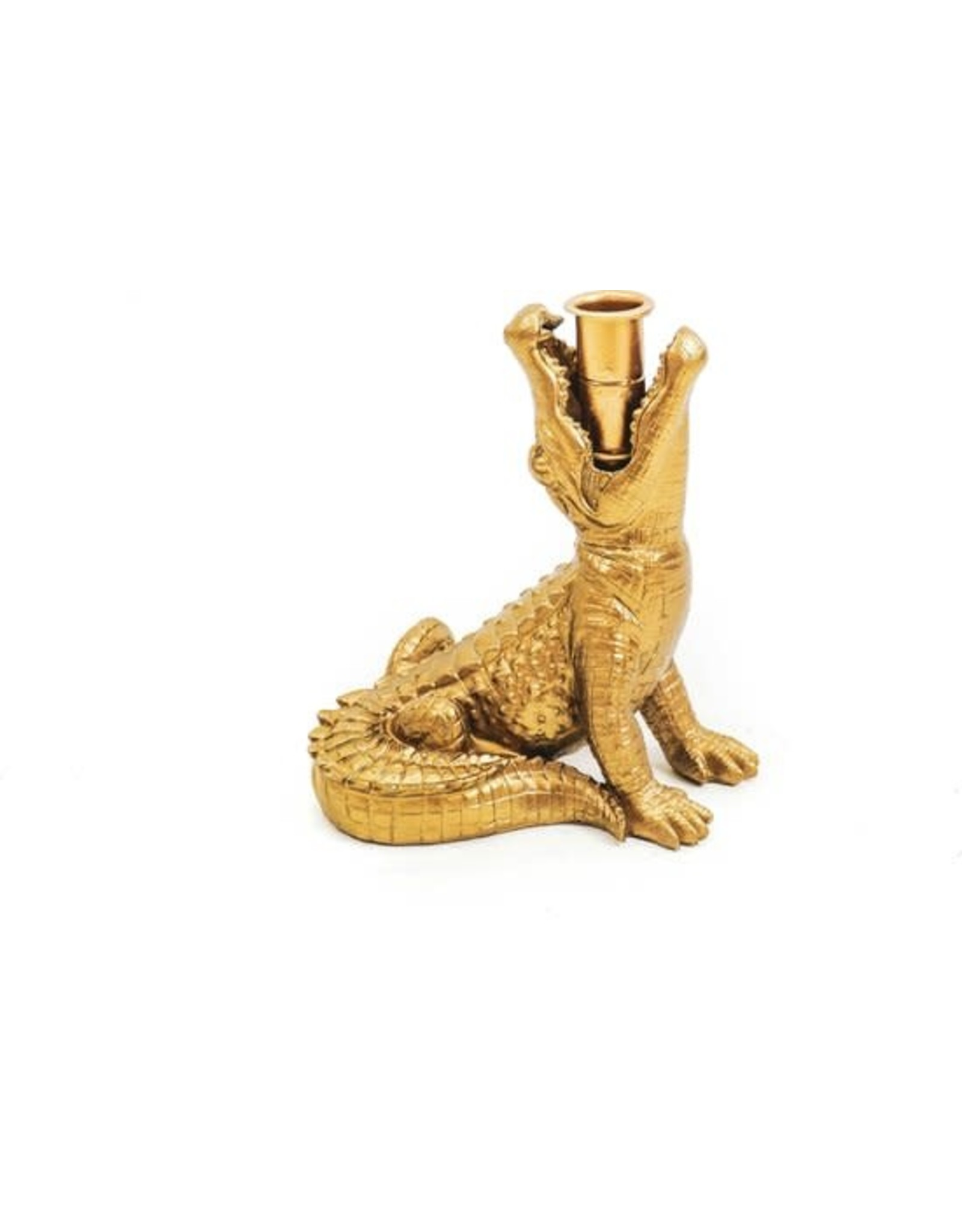 House vitamin HV Krokodil Kandelaar Goud.
