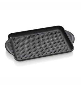 Le Creuset Le Creuset grill rechthoek 32 cm gietijzer Mat Zwart