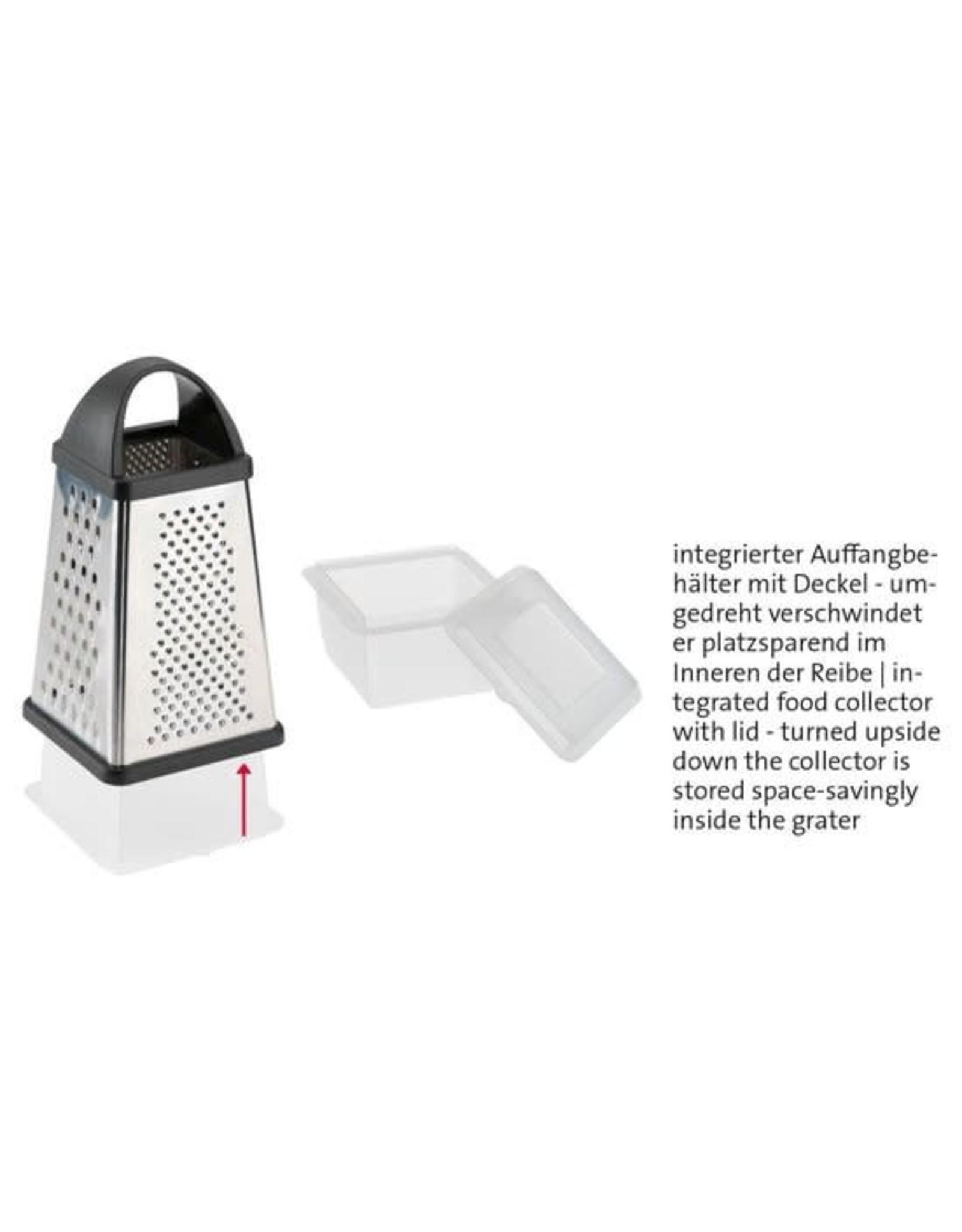 westmark Westmark Rasp 13 x 13,6 x 25 cm - Kunststof - RVS Inclusief opvangbak