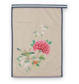 pip-studio Pip-Studio. Tea Towel Blushing Birds Khaki  50x70cm