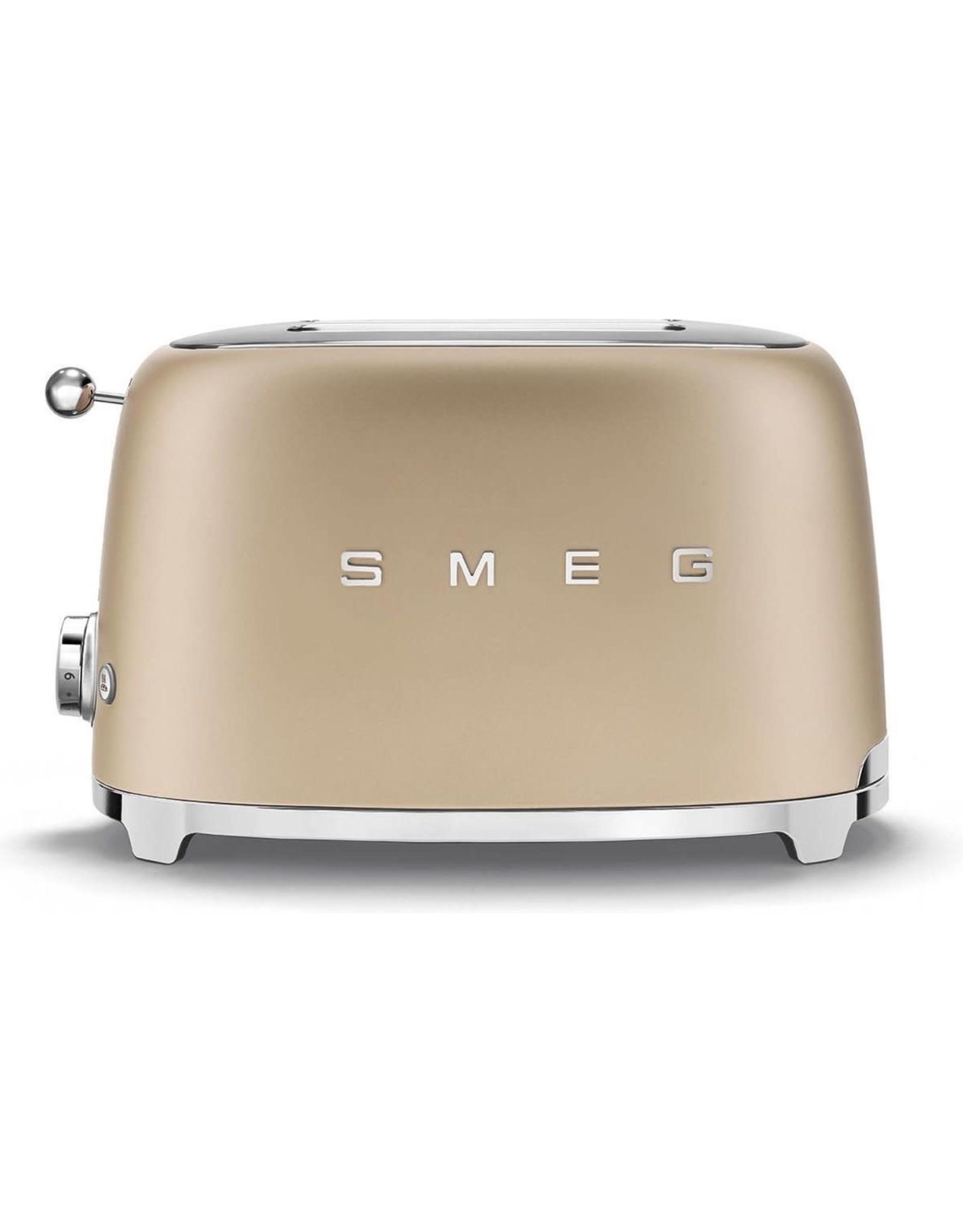 Smeg SMEG - Broodrooster - Broodrooster 2x2 Mat Champagne