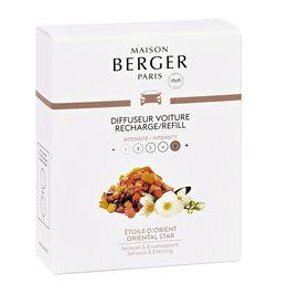 Maison Berger Maison Berger. Autoparfum navulling 2 stuks Etoile d'Orient