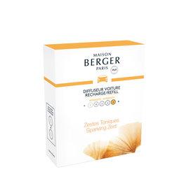 Maison Berger Maison Berger. Autoparfum navulling 2 stuks Energy - Zestes toniques / Sparkling zest
