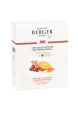 Maison Berger Maison Berger.  Autoparfum navulling 2 stuks Orange de Cannelle