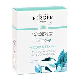 Maison Berger Maison Berger. Autoparfum navulling 2 stuks Happy - Fraîcheur Aquatique /  Aquatic Freshness