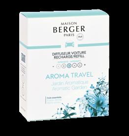 Maison Berger Maison Berger. Autoparfum navulling 2 stuks Travel - Jardin Aromatique / Aromatic Garden