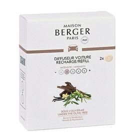 Maison Berger Maison Berger. Autoparfum navulling 2 stuks  Duft Olive tree