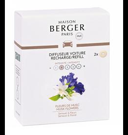 Maison Berger Maison Berger. Autoparfum navulling 2 stuks Fleurs de Musc
