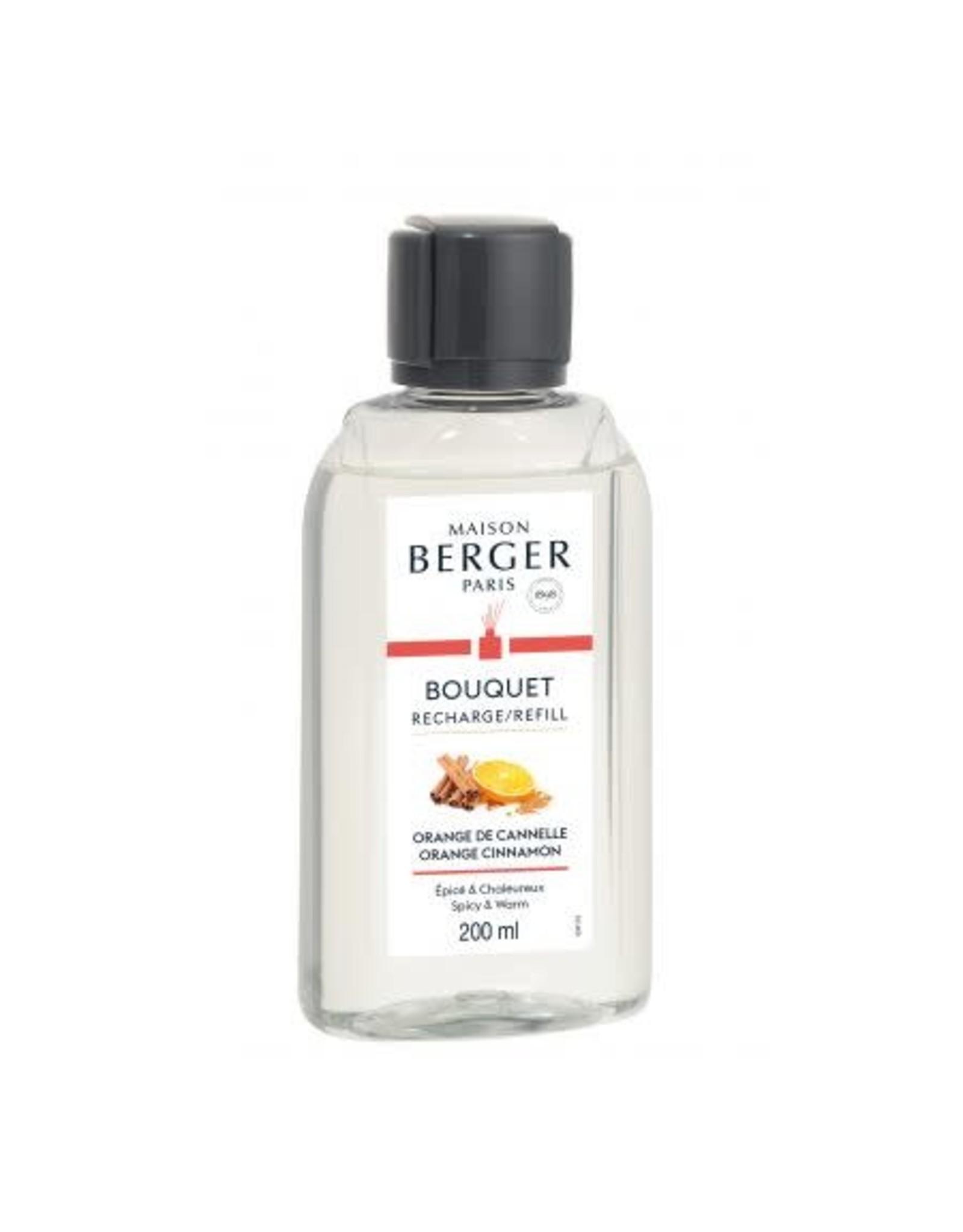 Maison Berger Maison Berger.  Navulling parfumverspreider met sticks 200ml Orange de Cannelle