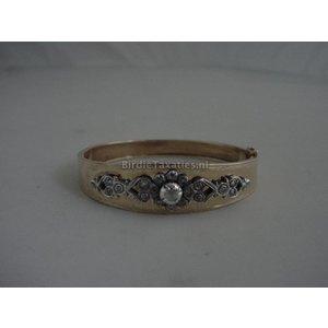 Gouden armband met applique van roosdiamanten