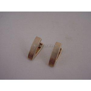 Gouden gematteerde oorstekers in moderne vormgeving, 5.7 gram
