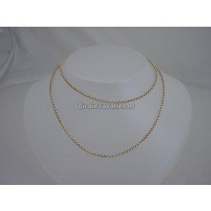 Gouden jasseronschakel collier, lengte 70cm, 13.8 gram
