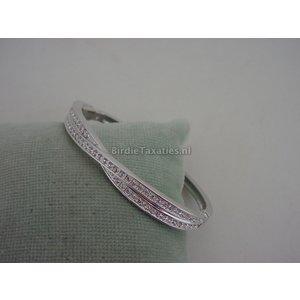Gerhodineerde strakke armband, Swarovski