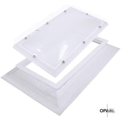 Bolvormige lichtkoepel rechthoek (50 x 100 cm)