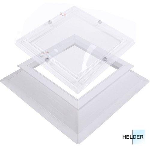 Lichtkoepel set vierkant 150 x 150 cm