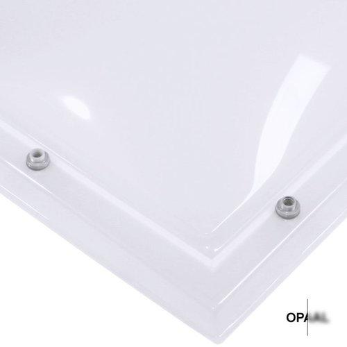 Lichtkoepel set vierkant 90 x 90 cm