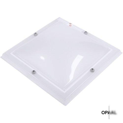 Lichtkoepel set vierkant 110 x 110 cm