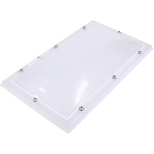 Lichtkoepel set rechthoek 100 x 200 cm