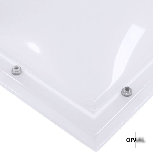 Lichtkoepel set rechthoek 130 x 190 cm