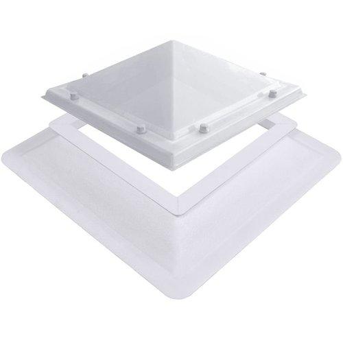 Lichtkoepel ventilatieset  vierkant piramide 40 x 40 cm