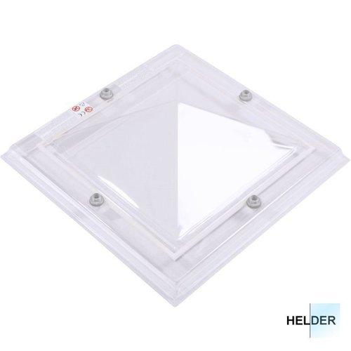 Lichtkoepel ventilatieset  vierkant piramide 130 x 130 cm