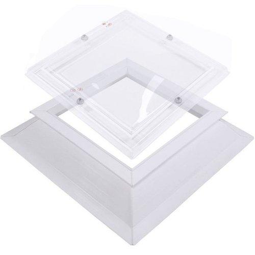 Lichtkoepel set vierkant 200 x 200 cm
