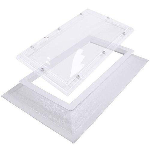 Lichtkoepel set rechthoek 105 x 230 cm